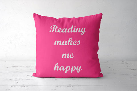 Reading Book Lovers' Quote Pink Cushion Covers | Artist : Seema Hooda