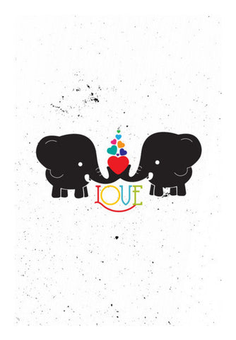 Elephant Love Art PosterGully Specials
