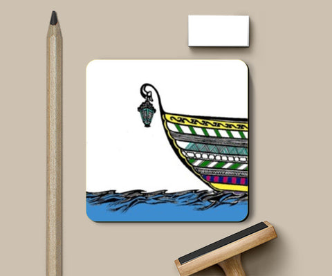 Coasters, Boat in Sea Coasters | Artist : Dr. Green, - PosterGully