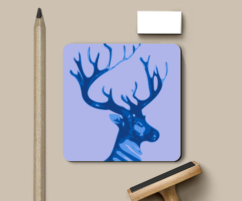 Coasters, Abstract Deer blue Coasters | Artist : Keshava Shukla, - PosterGully