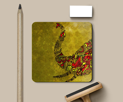 Coasters, Elephant Zenscrawl Coaster | Meghnanimous, - PosterGully