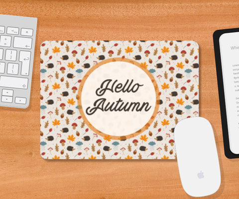 hello autumn Mousepad | Artist : DISHA BHANOT