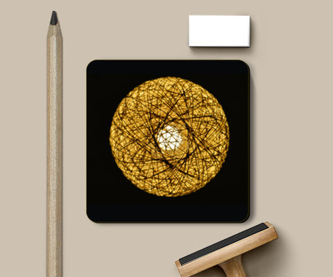 Coasters, Yellow Lamp Coasters | Artist : Shashanka Beshra, - PosterGully