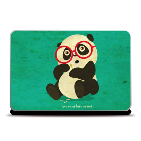 Laptop Skins, panda love me or not Laptop Skins | Artist : abhijeet sinha, - PosterGully