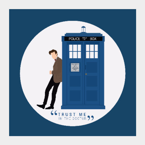 Square Art Prints, The Doctor and TARDIS Square Art | Artist: Mohak Gulati, - PosterGully
