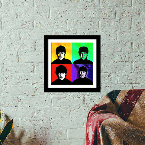 Premium Square Italian Wooden Frames, the beatles Premium Square Italian Wooden Frames | Artist : Pritika Uppal, - PosterGully - 1