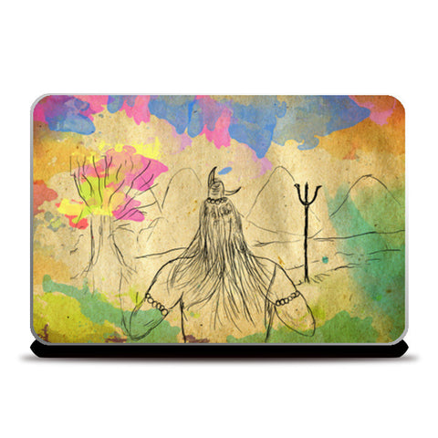 Laptop Skins, Shiva in Kailash Laptop Skins | Artist : Alka Rao, - PosterGully