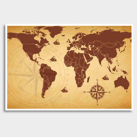 World Map Wall Poster Giant Poster | Artist : Inderpreet Singh