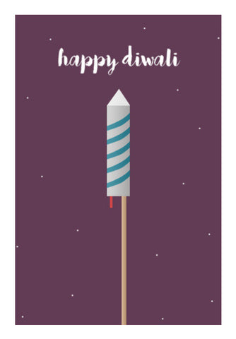 Happy Diwali Minimal Wall Art | Artist : Virtual Paintings