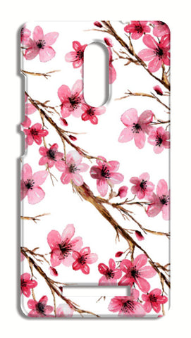 Elegant Pink Cherry Blossoms Design Floral Pattern Xiaomi Redmi Note 3 Cases | Artist : Seema Hooda