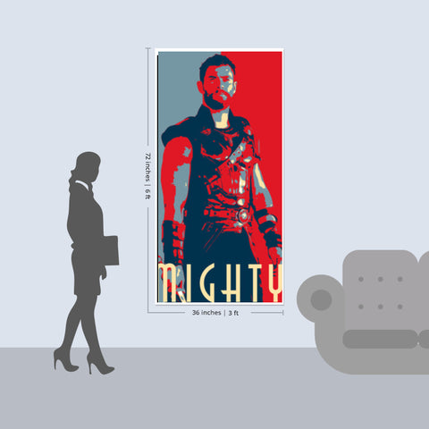 Thor Mighty Door Poster | Artist  LinearMan & Thor: Mighty Door Poster | Artist : LinearMan \u2013 PosterGully