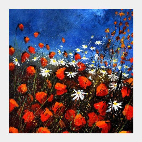 PosterGully Specials, red poppies 4571 Square Art Prints | Artist : pol ledent, - PosterGully