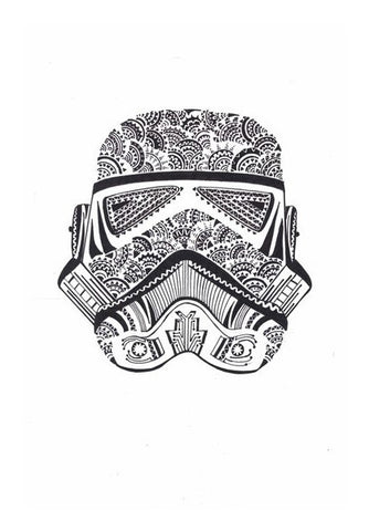 doodle,storm trooper,black and white Wall Art | Artist : All the randomness