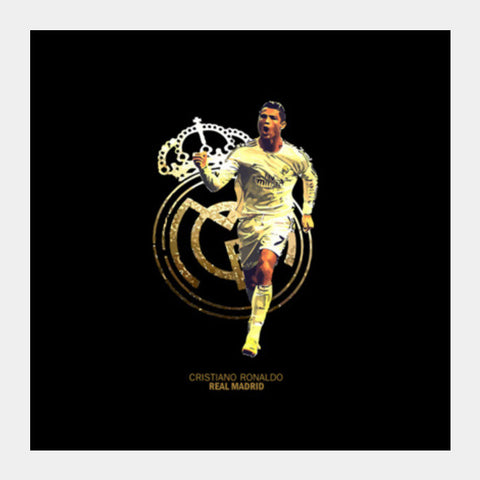Cristiano Ronaldo - Real Madrid Square Art Prints | Artist : Syamantak Dubey