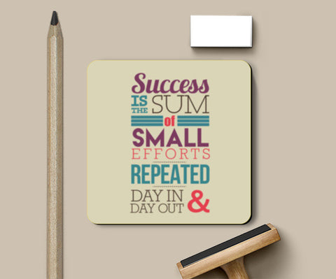 PosterGully Coasters, Success Typography Coasters | Artist : Stuti Bajaj, - PosterGully