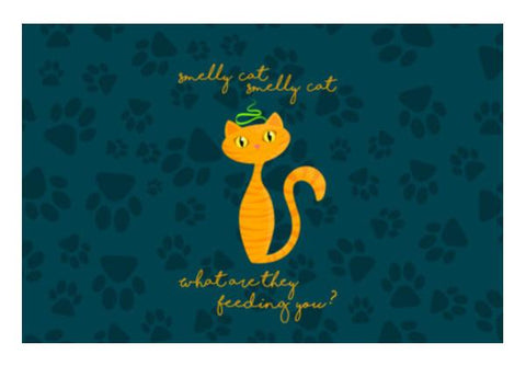 PosterGully Specials, Smelly Cat | FRIENDS Wall Art  | Artist : Ved Uttam, - PosterGully