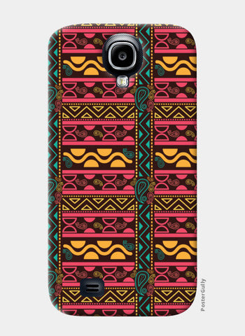 Abstract geometric pattern african style Samsung S4 Cases | Artist : Designerchennai