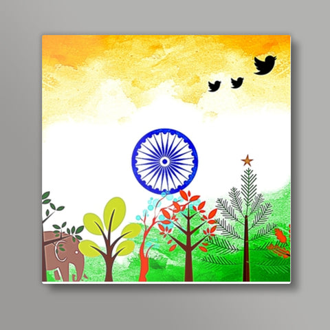 India Square Metal Prints | Artist : Pallavi Rawal