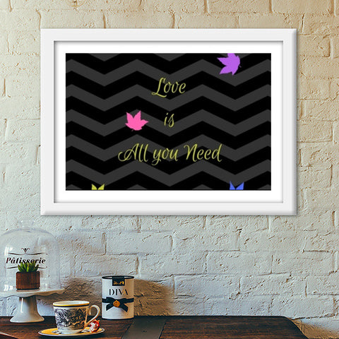 Love is All you need Premium Italian Wooden Frames | Artist : Pallavi Rawal
