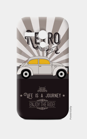 Retro vintage car on gray Moto G Cases | Artist : Designerchennai