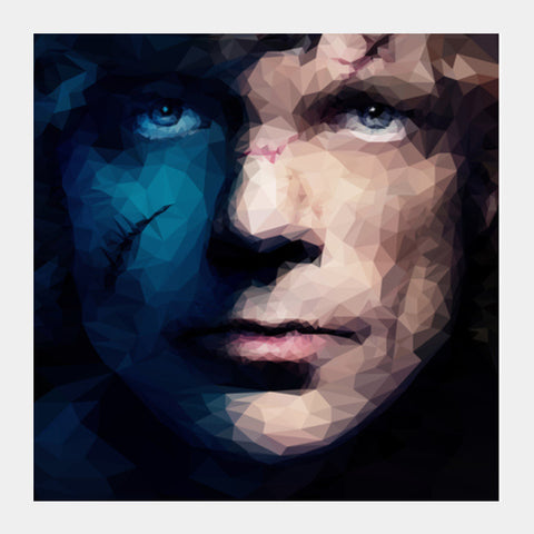 Square Art Prints, Block - Tyrion Polygonal Portrait Square Art | Omkar Thakur, - PosterGully