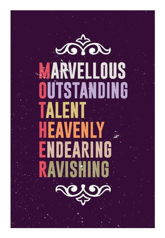 PosterGully Specials, Marvellous meaning of mother letters Wall Art | Artist : Designerchennai, - PosterGully