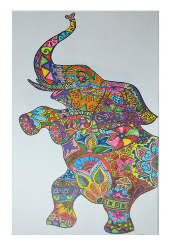 Wall Art, ElePhant Wall Art | Artist : Kriti Pahuja, - PosterGully