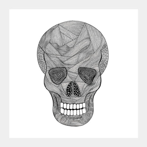 Smiling Skull Square Art Prints PosterGully Specials