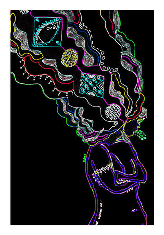 Cloudy Head (neon sign) Wall Art | Artist : Anjuri Jain