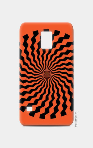 Samsung S5 Cases, ILLUSION-ORANGE Samsung S5 Cases | Artist : Sonia Punyani, - PosterGully