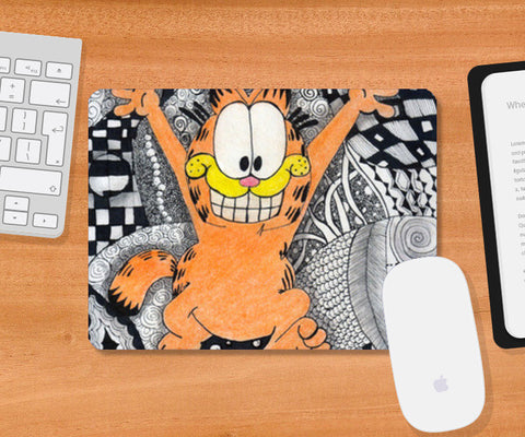 The Weekend Garfield Mousepad | Artist : Nishita Jain