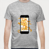 Think outside the phone Men T Shirts | Artist : Abhishek Faujdar