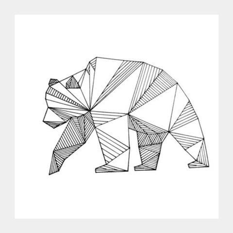 Meandering Bear Square Art Prints | Artist : Aurigamie