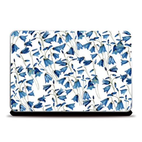 Laptop Skins, Blue Floral Background Design Laptop Skins | Artist : Seema Hooda, - PosterGully