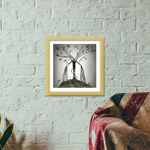 The Tree of Lust Premium Square Italian Wooden Frames | Artist : kapil Verma