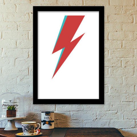 Premium Italian Wooden Frames, David Bowie Forever Premium Italian Wooden Frames | Artist : Danish Prakash, - PosterGully - 1