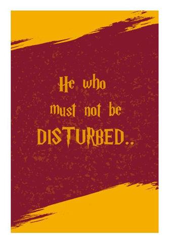 PosterGully Specials, HE WHO MUST NOT BE DISTURBED Wall Art | Artist : DISHA BHANOT, - PosterGully