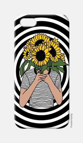 sunflower mono iPhone 5 Cases | Artist : Priyanka Paul