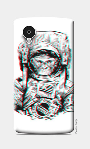 3D Space Monkey Nexus 5 Cases | Artist : Pulkit Taneja