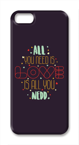 All you need is love is all you need iPhone SE Cases | Artist : Designerchennai