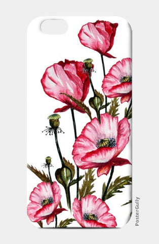 iPhone 6 / 6s Cases, Painted Pink Poppies Floral Art iPhone 6 / 6s Cases | Artist : Singhroha Art, - PosterGully