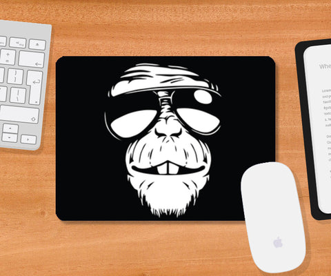 Monkey Glasses Mousepad | Artist : Inderpreet Singh