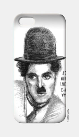 Charlie Chaplin sketch iPhone 5 Cases | Artist : Raman Bhardwaj