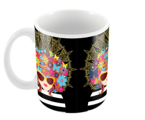 Butterfly Girl Coffee Mugs | Artist : Design_Dazzlers
