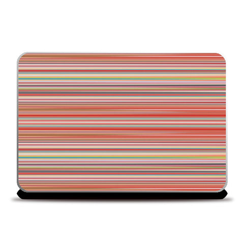 Abstract Horizontal Colorful Thin Stripes Pattern Laptop Skins | Artist : Seema Hooda