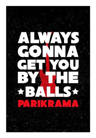 PosterGully Specials, By The Balls Wall Art | Artist : Parikrama Officials | PosterGully Specials, - PosterGully