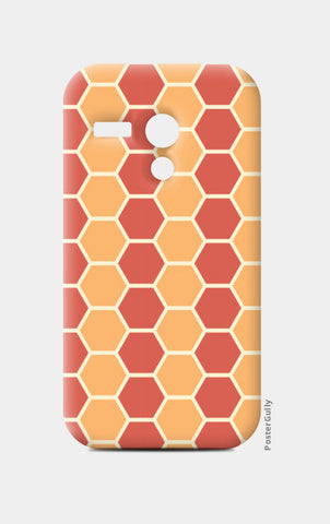 Hexagonal tiling pattern Moto G Cases | Artist : Designerchennai