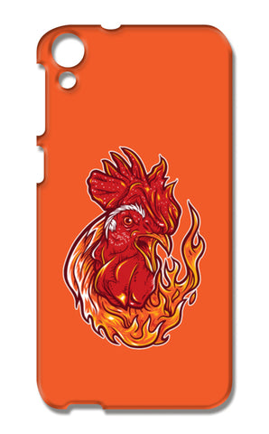 Rooster On Fire HTC Desire 820 Cases | Artist : Inderpreet Singh