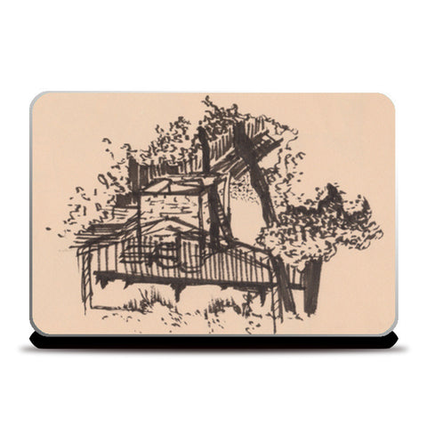Behind the Trees Laptop Skins | Artist : Shalini Upadhyay