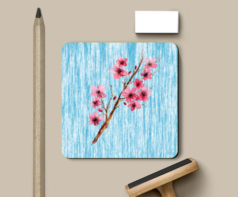 Coasters, Cherry Blossoms Coaster l Artist: Seema Hooda, - PosterGully